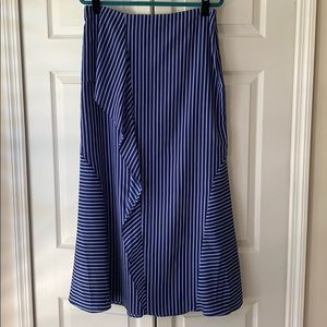 Banana Republic maxi skirt, navy stripe